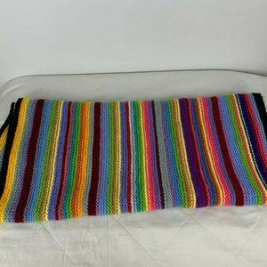 Handmade Multicolored Knitted Gift Blanket A19